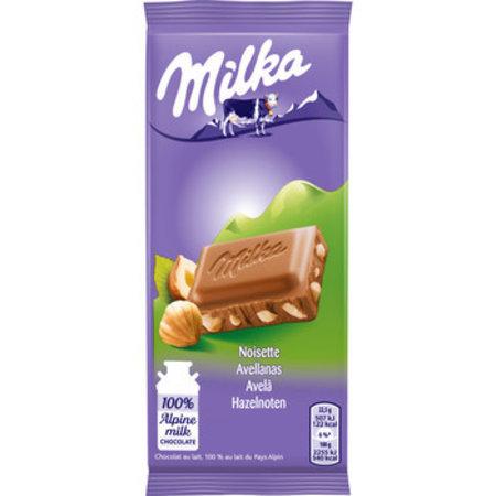Milka Milka - gebroken noot 45 gram - 32 repen