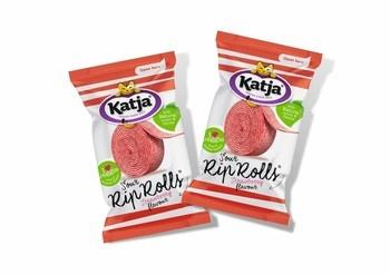 Katja Katja - rip rolls aardbei 40 gram - 24 stuks
