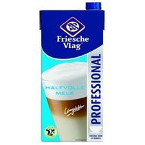Friesche Vlag - HALFVOLLE MELK 1LT PAK, 12 pack