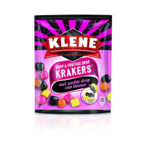 Klene - KLENE KRAKERS DROP & FRUIT, 10 zakken