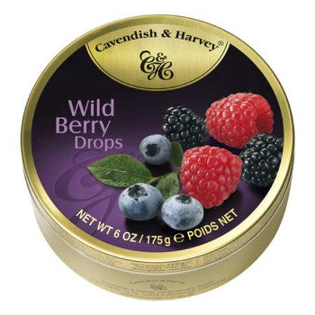 Cavendish & Harvey Cavendish & Harvey - Blik Snoepjes Wild Berry 200Gg, 9 Blikken