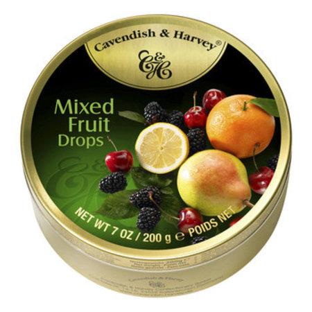 Cavendish & Harvey Cavendish & Harvey - Blik Snoepjes Mixed Fruit 200G, 9 Blikken