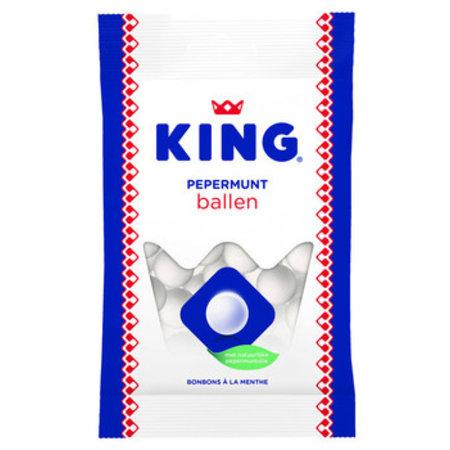 King King - King Pepermuntballen 132G, 12 Zakken