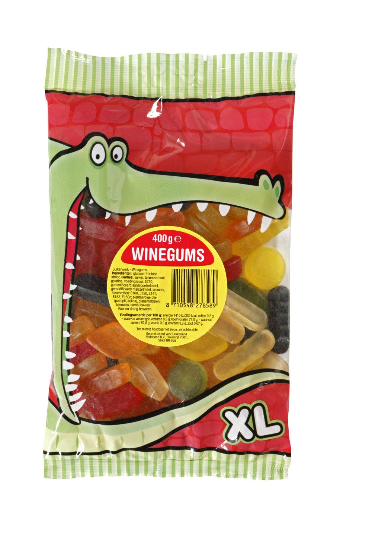 Lekkerland Lekkerland - Krokodilbaal Winegums 400G, 12 Zakken