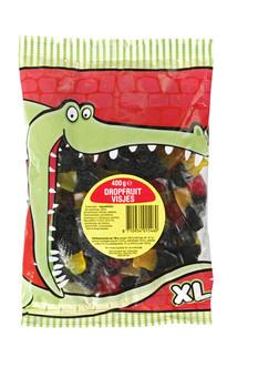 Lekkerland Lekkerland - Krokodilbaal Dropfruit Visjes, 12 Zakken