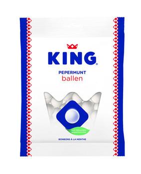 King King - Pepermuntballen 250Gr, 12 Zakken