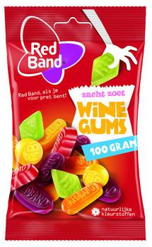 Red Band Red Band - Kv Winegums 100G, 24 Zakken