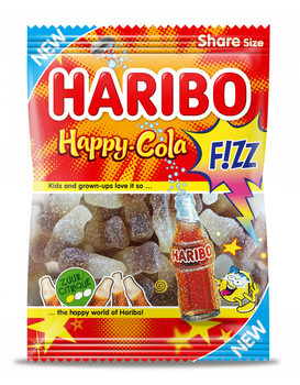 Haribo Haribo - Happy Cola Fizz 200Gr, 14 Zakken