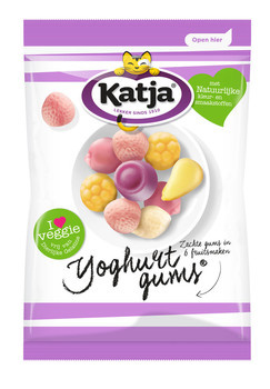 Katja Katja - Vv Yoghurtgums 350G, 12 Zakken