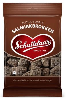 Schuttelaar Schuttelaar - Salmiakbrokken 175G, 18 Zakken