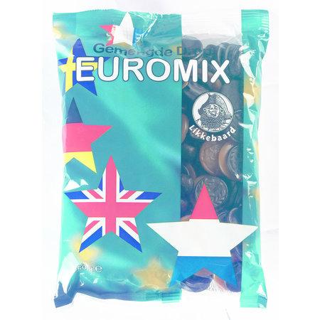 Likkebaard Likkebaard - Gemengde Drop Euromix 750Gr, 12 Zakken