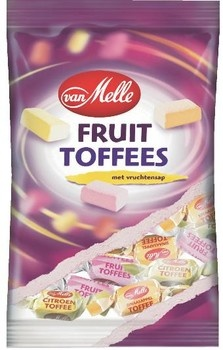 van Melle Van Melle - Toffees Tr.Wrapzk 250Gr Fruit, 14 Zakken