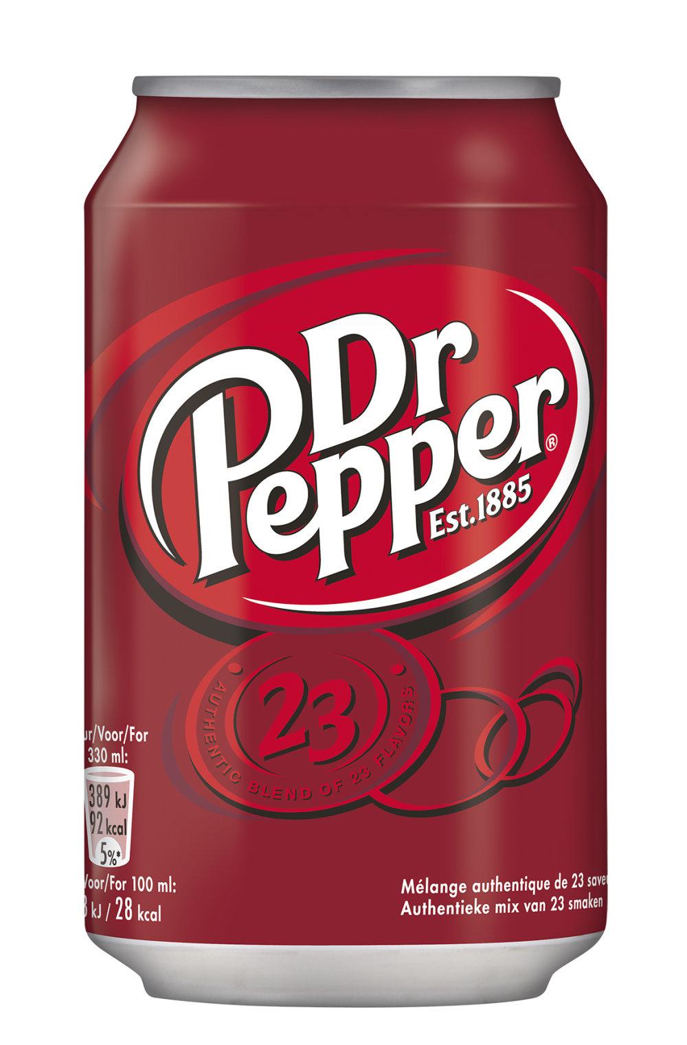 Dr Pepper Dr Pepper - Dr Pepper 33Cl Blik, 24 Blikken
