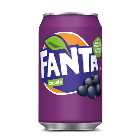 Fanta Fanta - Fanta Cassis 33Cl Blik, 24 Blikken