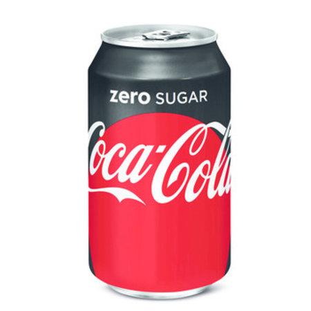 Coca Cola Coca Cola - Coca Cola Zero 33Cl Blik, 24 Blikken