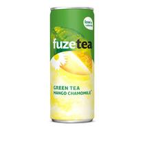 Fuze - Fuze Ice Tea Gr.Mango 25Cl Bl, 24 Blikken
