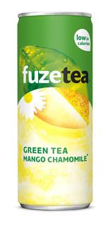 Fuze Fuze - Fuze Ice Tea Gr.Mango 25Cl Bl, 24 Blikken