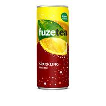 Fuze - Fuze Ice Tea Sparkling 25Cl Bl, 24 Blikken