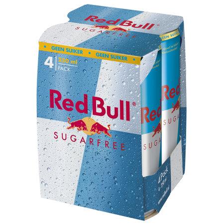 Red Bull Red Bull - Red Bull Sugarfr 4Pk 25Cl Blik, 6 4 Pack