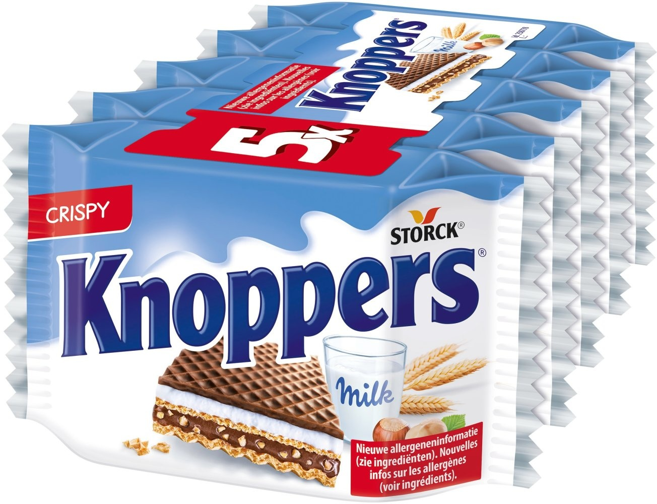 Knoppers Knoppers - Knoppers 5-Pk, 18 Pack