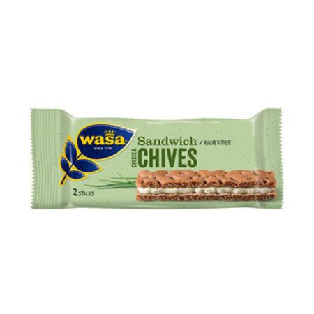 Wasa Wasa - Sandwich Cheese & Chives, 24 Stuks