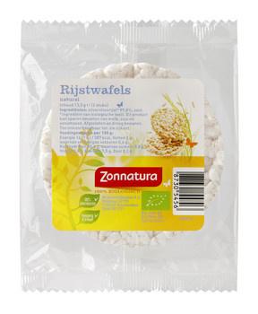 Zonnatura Zonnatura - Bio Rijstwafels Naturel 15G, 12 Pack