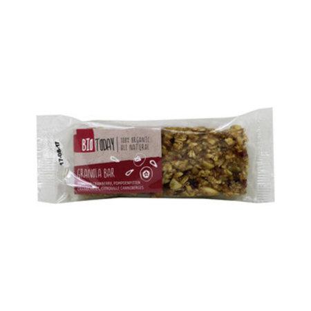 Bio Today Bio Today - Bio Granola Bar Pompoen/Cranb, 12 Repen