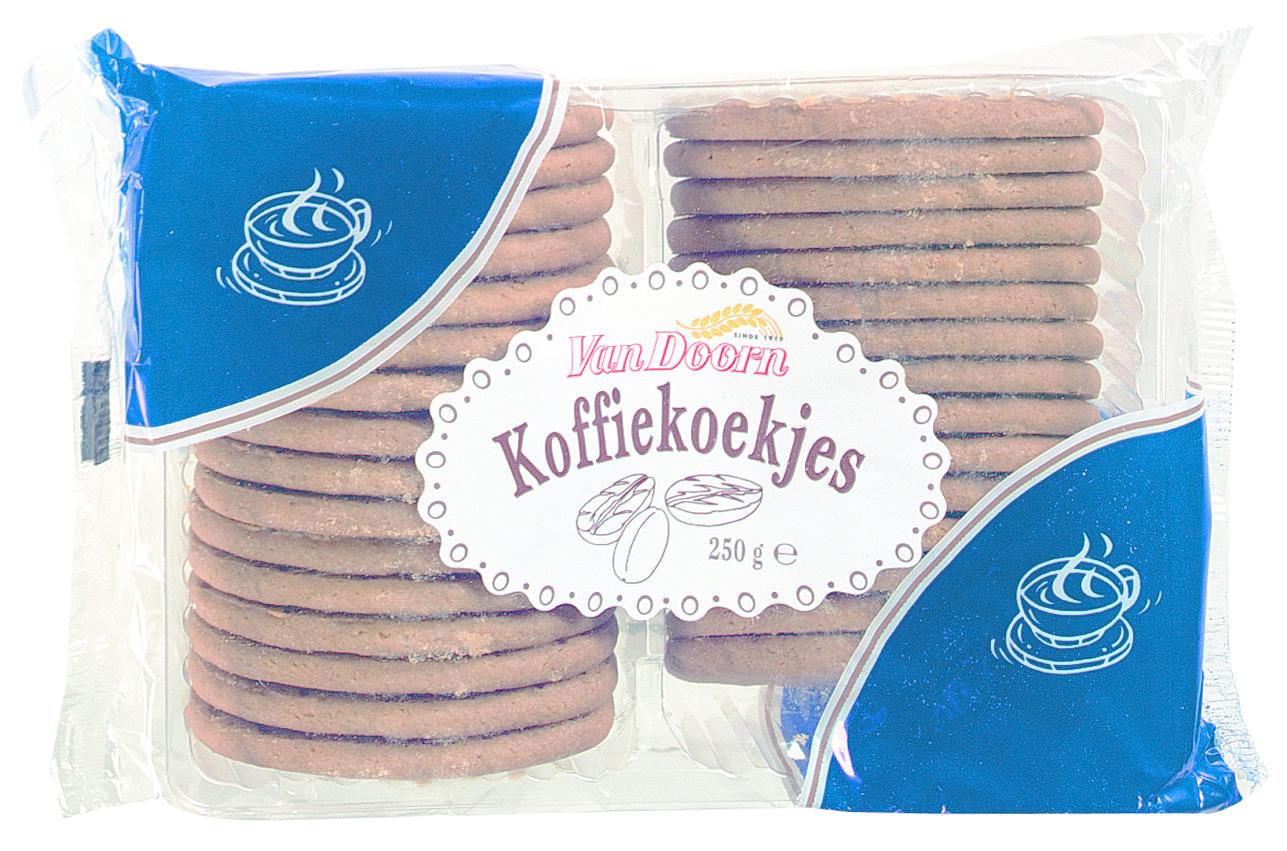 van Doorn Van Doorn - Koffiekoekjes 250Gr, 12 Pack