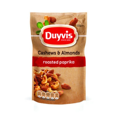 Duyvis Duyvis - P&N 125G Cashew&Almond Paprika, 10 Zakken