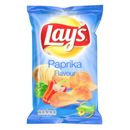Lay's Lay'S - Chips 175G Paprika (8Zk/Ds), 8 Zakken
