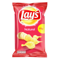 Lay'S - Chips 175G Naturel (8Zk/Ds), 8 Zakken