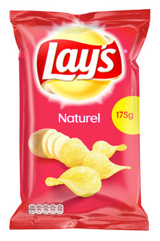 Lay's Lay'S - Chips 175G Naturel (8Zk/Ds), 8 Zakken
