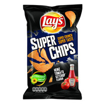 Lay'S - Superchips 215Gr Heinz Ketchup, 8 Zakken
