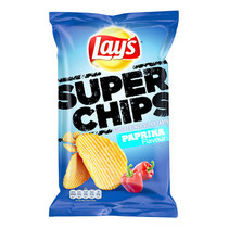 Lay'S - Superchips 215Gr Paprika 8Z/Ds, 8 Zakken