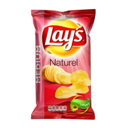 Lay's Lay'S - Chips 120Gr Naturel, 12 Zakken