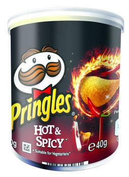 Pringles Pringles - Pringles 40Gr Hot & Spicy, 12 Kokers