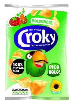 Croky Croky - Croky Chips 100Gr Bolognese, 12 Zakken