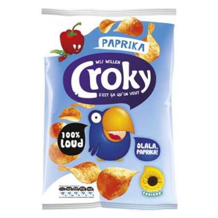 Croky Croky - Croky Chips 100Gr Paprika, 12 Zakken