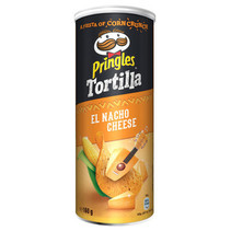Pringles - Tortilla Nacho Cheese 160G, 9 Kokers
