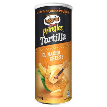 Pringles Pringles - Tortilla Nacho Cheese 160G, 9 Kokers