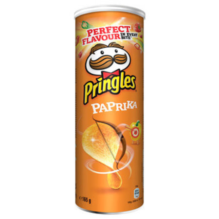 Pringles Pringles - Pringles Paprika 165G, 19 Kokers