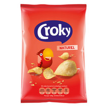 Croky - Croky Chips 40G Naturel, 20 Zakken
