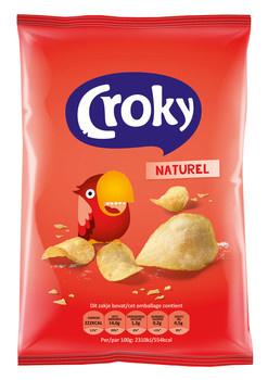 Croky Croky - Croky Chips 40G Naturel, 20 Zakken
