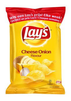 Lay's Lay'S - Chips 40Gr Cheese Onion, 20 Zakken