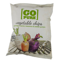 Go Pure! - Bio Go Pure Chips Groente, 15 Zakken