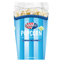 Jimmy´S - Tub Popcorn 90G Zout, 6 Bekers