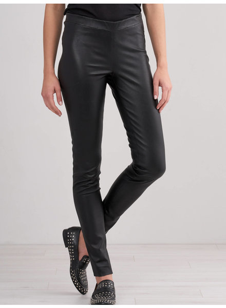 REPEAT cashmere Leather pants black