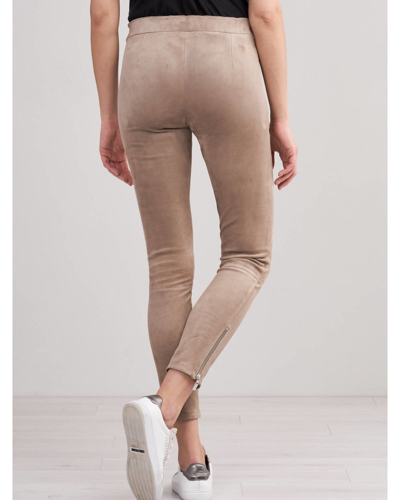 REPEAT cashmere REPEAT leather pants taupe