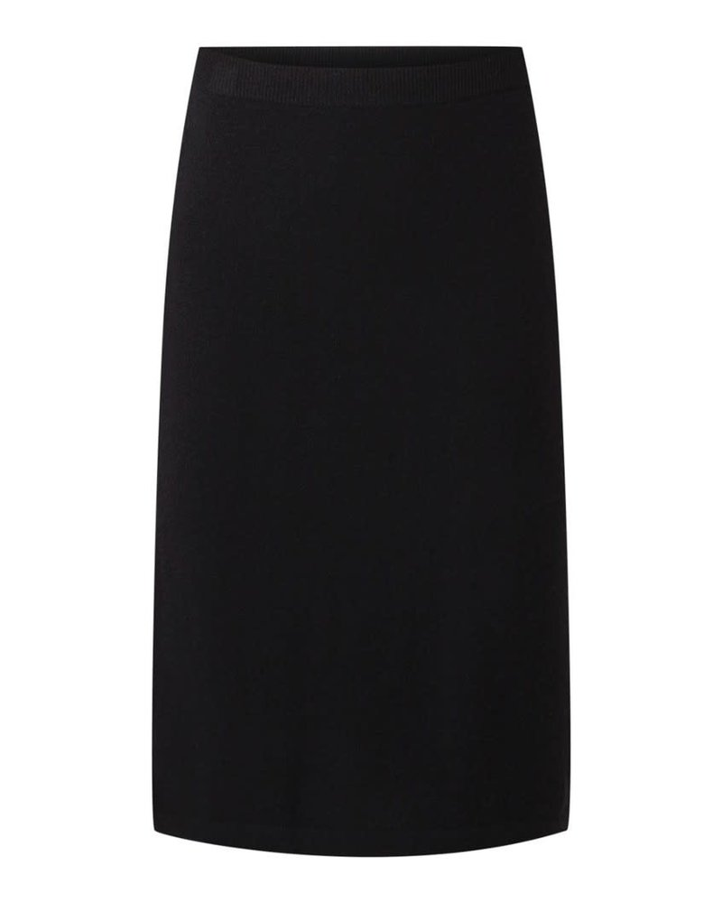 REPEAT cashmere REPEAT cashmere skirt black