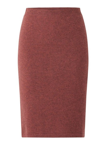 REPEAT cashmere Cashmere skirt terra